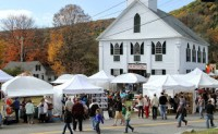 On Columbus Day Weekend, tents blossom on the Newfane Common for the Heritage Festival. Amid the colorful Fall Foliage on the village streets and surrounding hillsides, talented artists and craftpeople display their creative efforts. Locals and tourists return year after year for this signature event in southeastern Vermont.