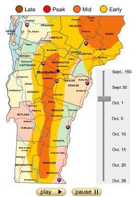 Fall Foliage Leaf Peeping Season Vermont Gay Male Rock River