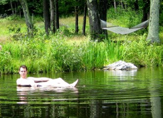Swimming Pond Frog Meadow New England's Best All Male Gay Resort in Southern Vermont