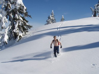 Snowshoeing Frog Meadow New England's Best All Male Gay Resort in Southern Vermont
