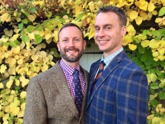 Fall gay wedding at Frog Meadow New England's Best All Male Gay Resort in Southern Vermont