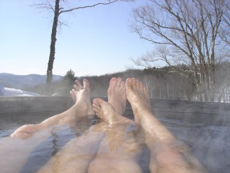 Wood-Fired Hot Tub Frog Meadow New England's Best All Male Gay Resort in Southern Vermont