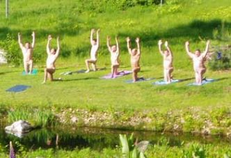 Pond-side yoga Retreats and Men's Workshops Frog Meadow New England's Best All Male Gay Resort in Southern Vermont