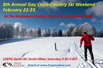 Gay Cross-Country Ski & Snowshoe Weekend Frog Meadow Oasis for Men Vermont