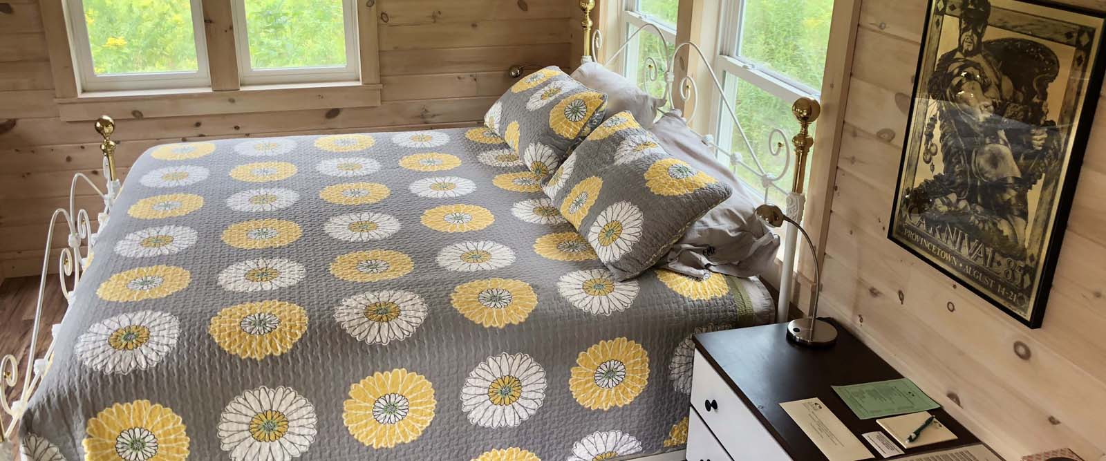 The Honey Bee Cottage is solar-powered and has a king-size bed. It's an experience you won't easily forget…
