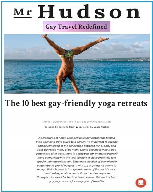 Mr Hudson TOP 10 Gay Yoga Destinations Frog Meadow, The Northeast's Premier All Male Gay Resort and Retreat Center in Southern Vermont